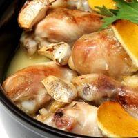 Pollo al ajillo. Receta de la abuela