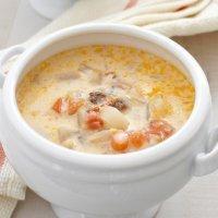 Sopa de pescado sencilla para niños enfermos
