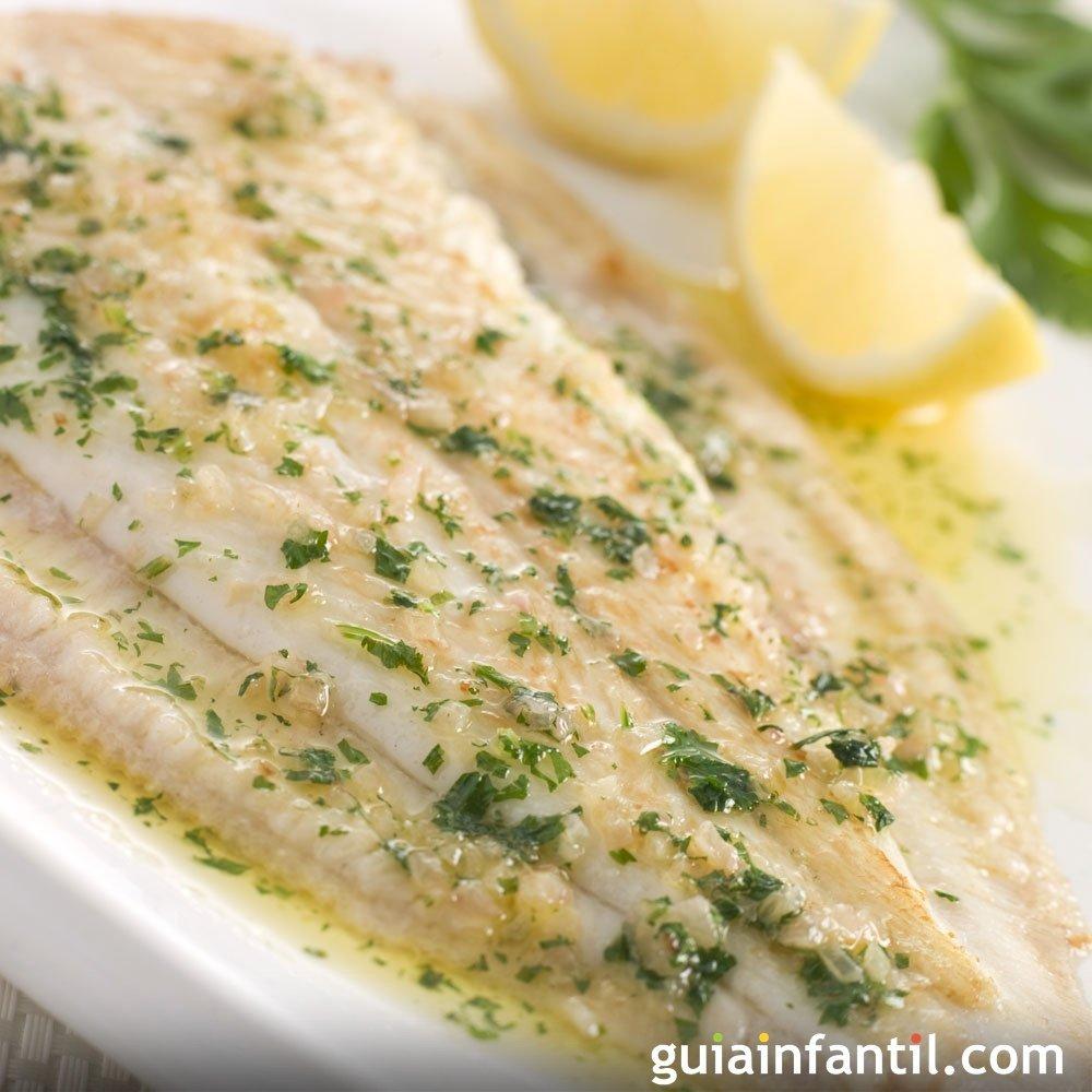Lenguado a la plancha con lim n para ni os enfermos for Cocinar pescado para ninos