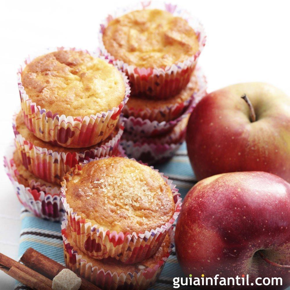 Magdalenas de manzanas y canela un manjar para los ni os - Madalenas o magdalenas ...