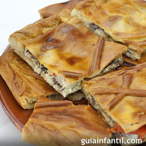 Empanada gallega de lomo. Receta de la abuela