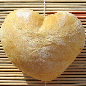 Receta de pan para San Valentín