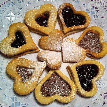 Galletas linzer con mermelada