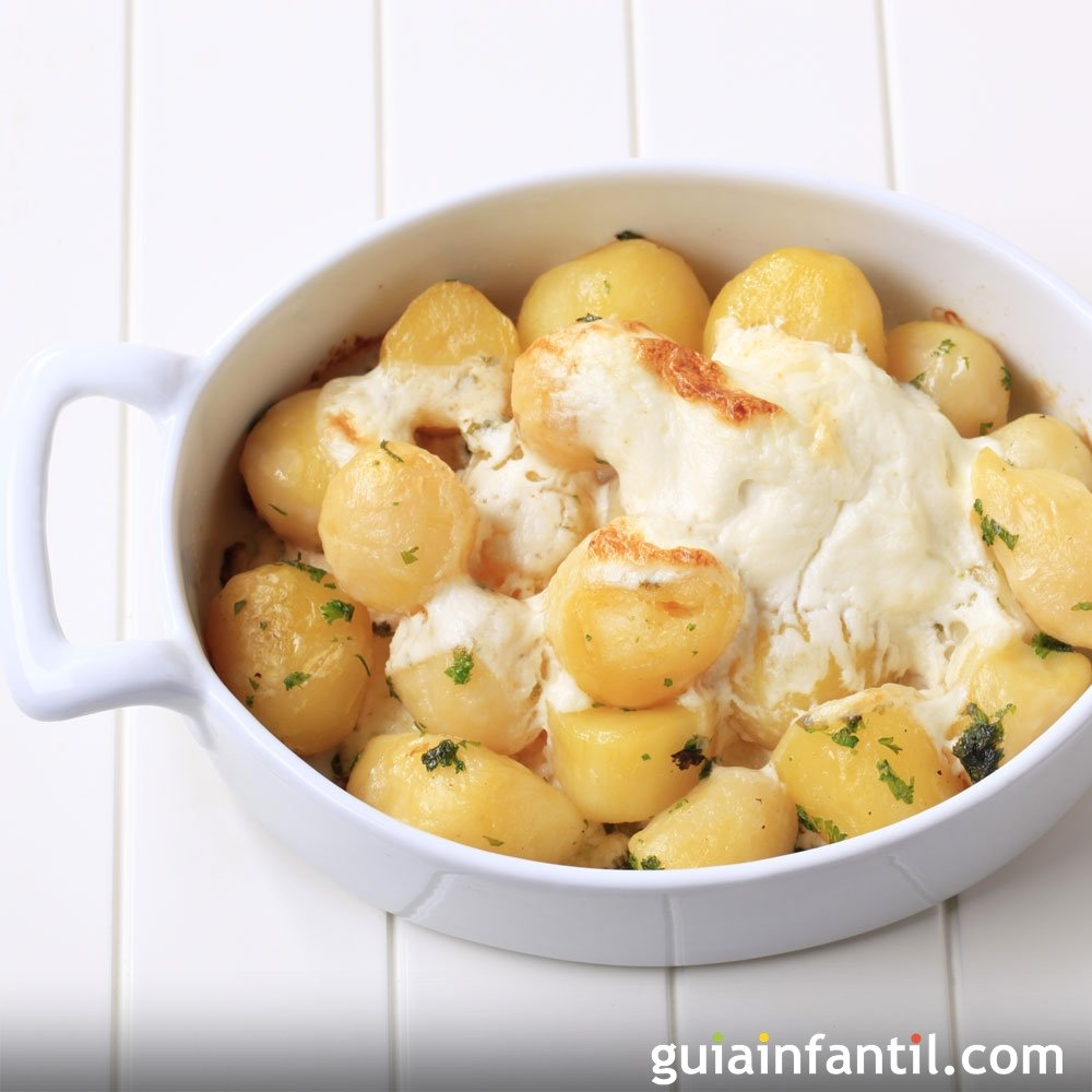 Patatas arom ticas con queso al horno - Patatas pequenas al horno ...