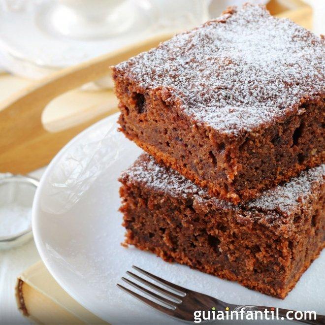 Bizcocho de chocolate con harina de soja