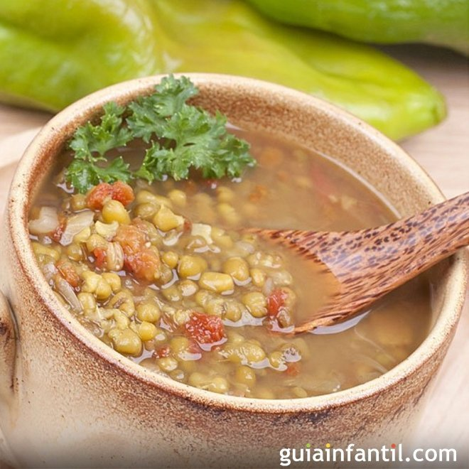 Sopa de soja verde o judías mungo