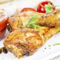 Muslos de pollo asados al microondas, receta rápida