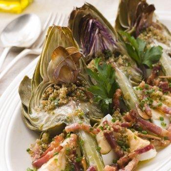 Recetas de alcachofas con jamón