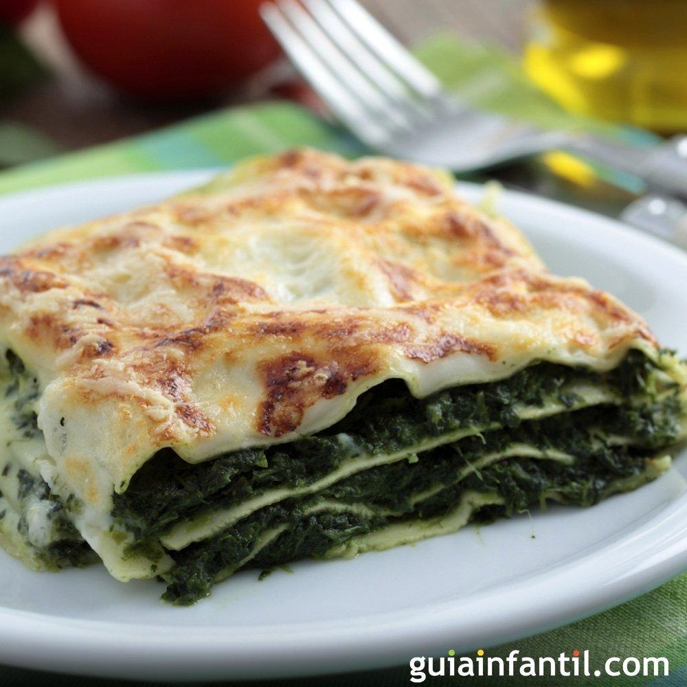 lasa a de espinaca receta vegetariana f cil