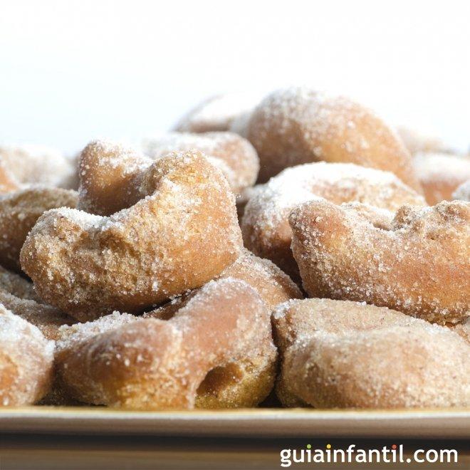 Rosquillas fritas. Receta de dulce casero y económico