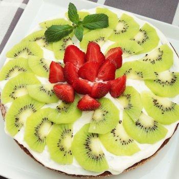 Carpaccio de fresas y kiwi