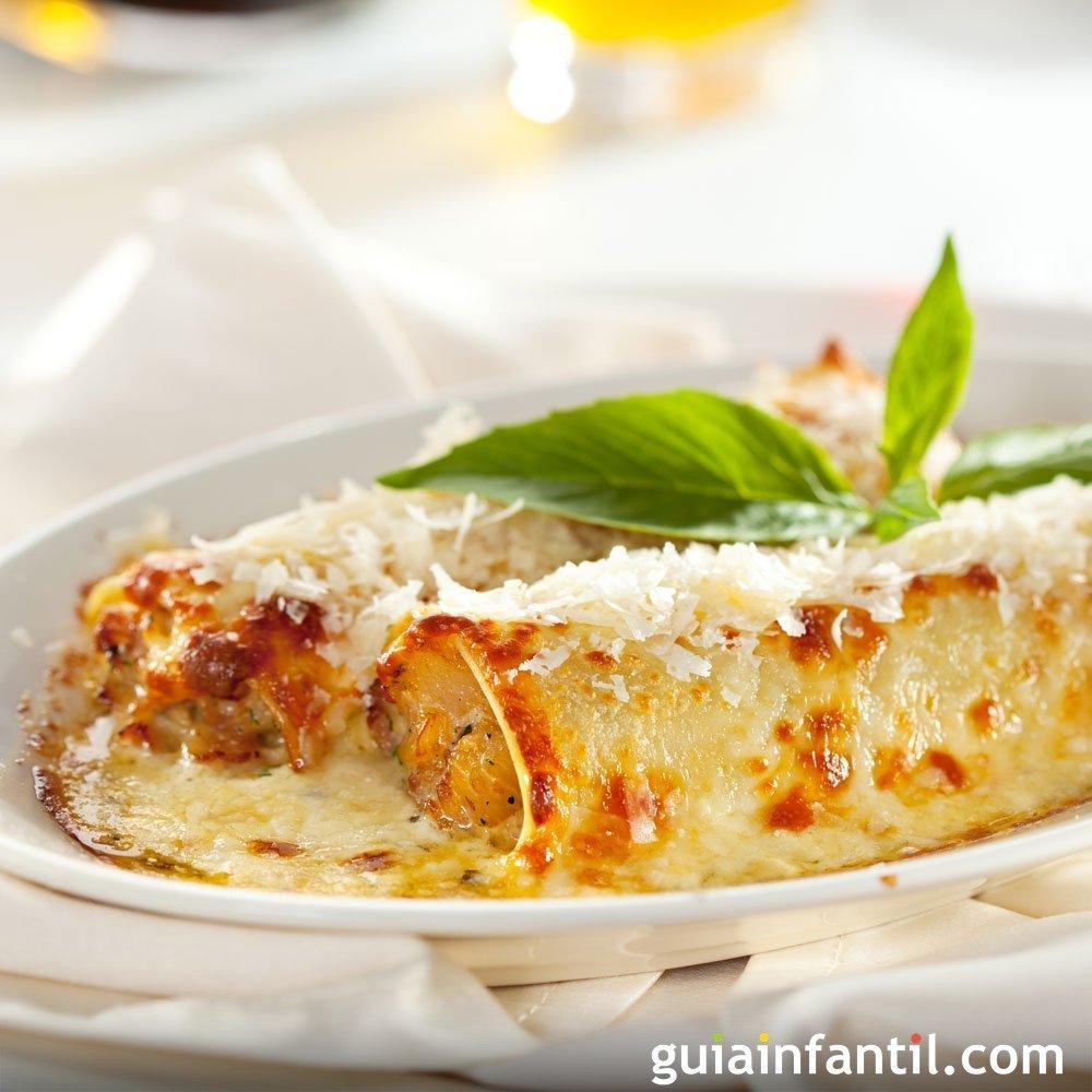 canelones de pollo y queso ricotta cocina italiana para ni os