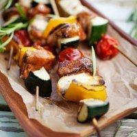 Brochetas de verduras, entrante sano y rápido