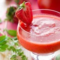 Gazpacho de fresas, sopa refrescante con fruta