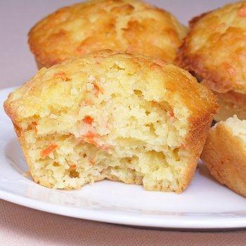 Muffins de zanahoria y piña
