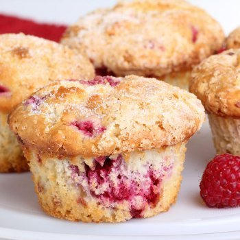 Muffins de frambuesa