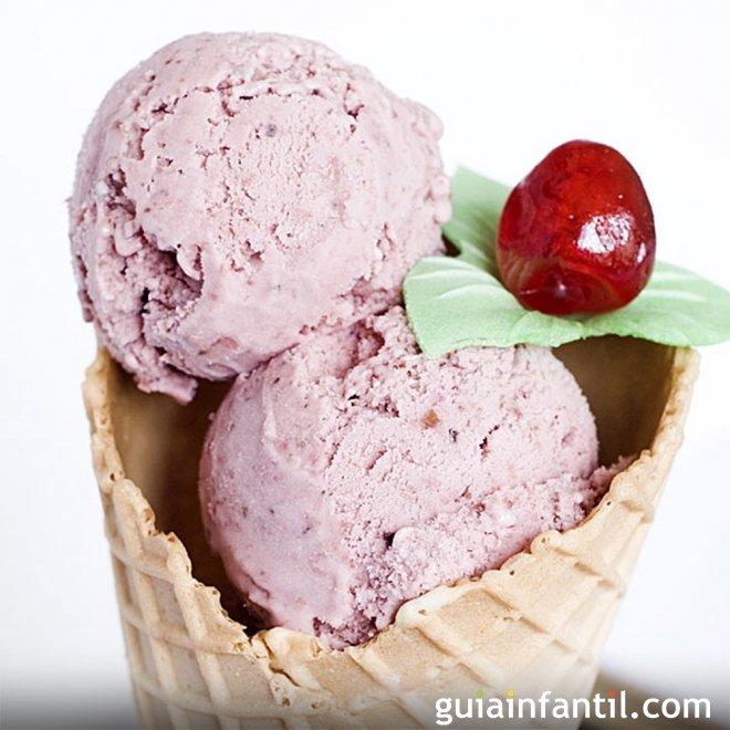 Helado de cerezas, recetas con fruta para niños