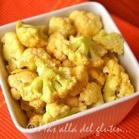 Popcorn de coliflor. Aperitivo vegano para niños