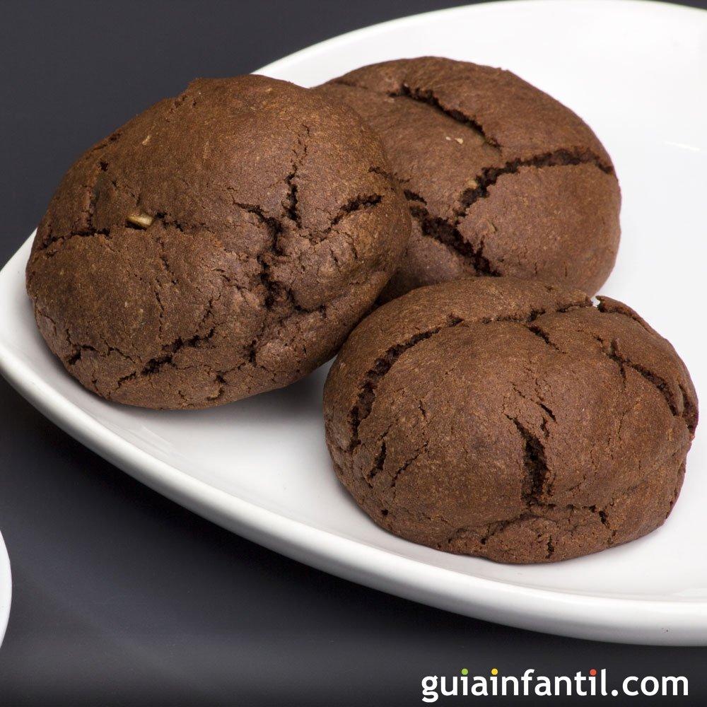 Galletas de chocolate sin horno, postre rápido