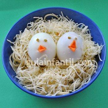 Pasta con huevo