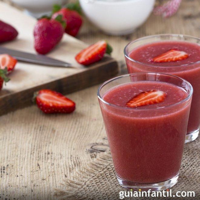 Granizado de fresas. Una receta refrescante para los niños