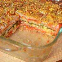 Lasaña de patata y verduras. Receta vegetariana para niños