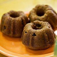 Muffins de calabaza con pasas. Receta de Halloween para niños