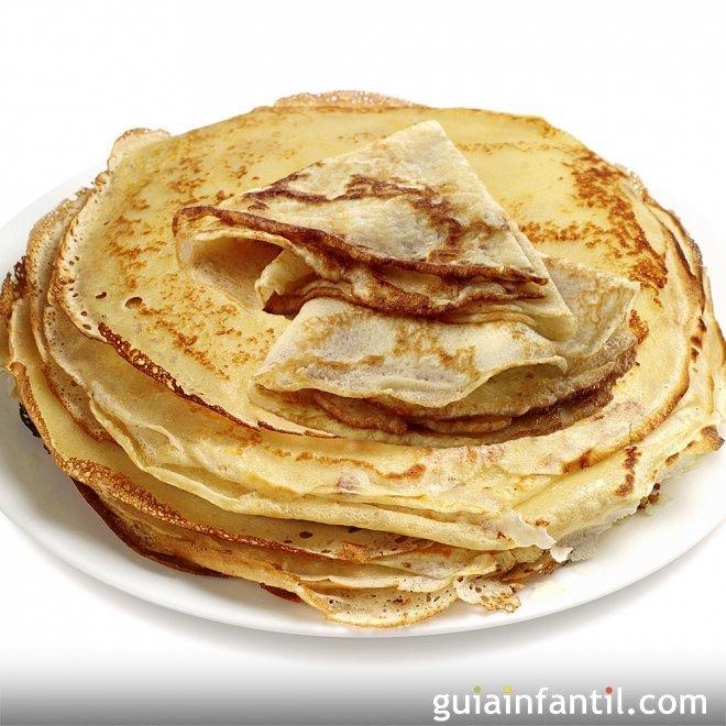 Receta de crepes o panqueques receta f cil y casera - Reposteria facil y rapida ...