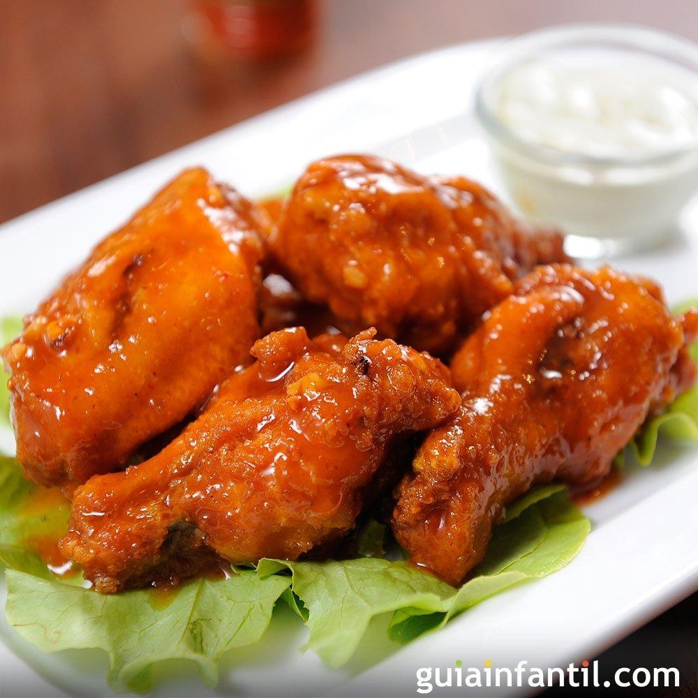 Alitas de pollo a la miel receta sencilla y r pida para ni os for Comida facil y sencilla