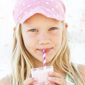 Cremas, batidos y zumos con frutas para niños