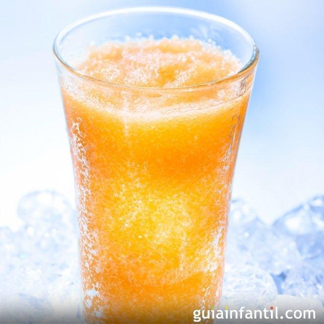 Granizados de frutas. Receta sana para los niños