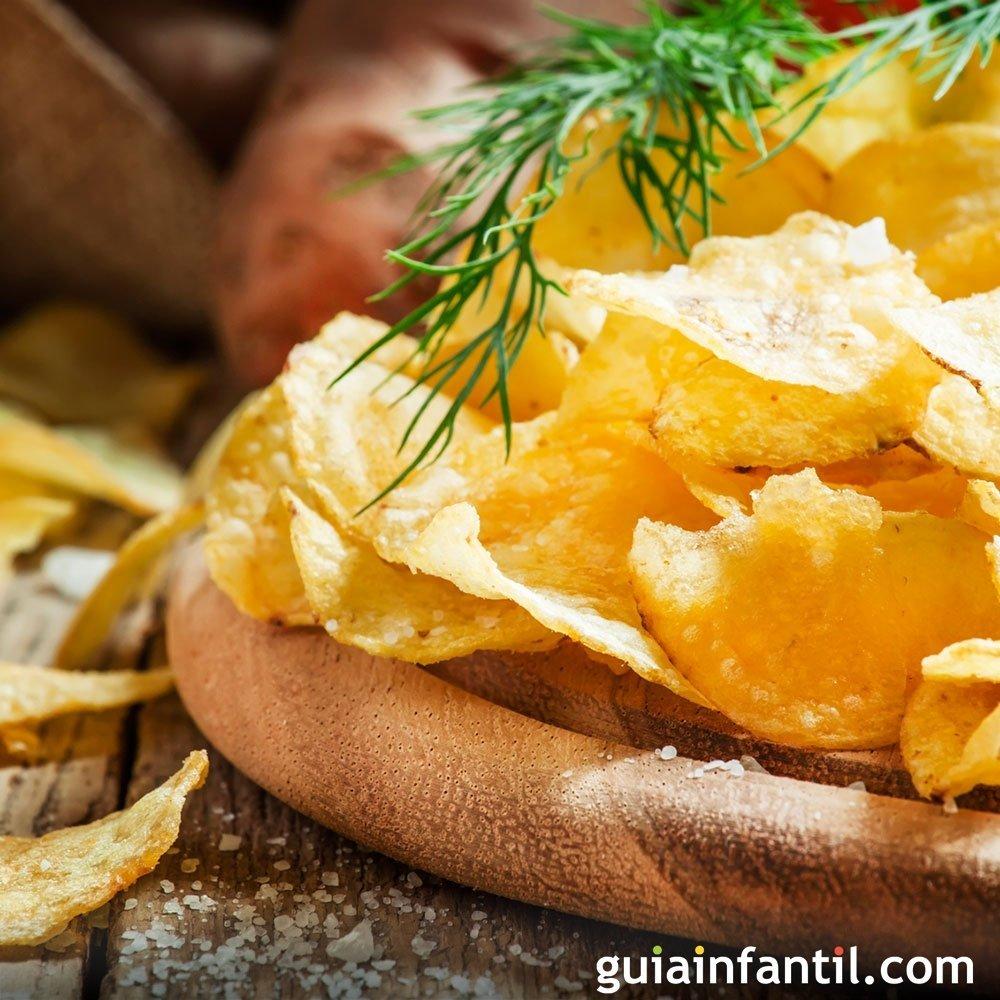 Receta de patatas fritas o chips de bolsa - Como hacer tapas faciles ...