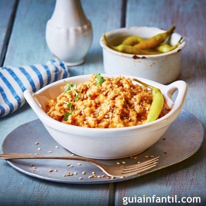 Mole Jarocho de soja. Cocina mexicana sana
