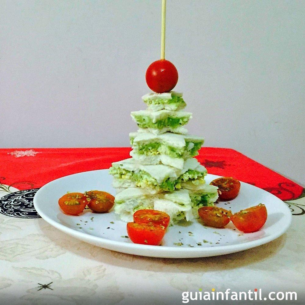 Rbol de navidad con pan de molde recetas navide as for Casa de navidad cocina con sara