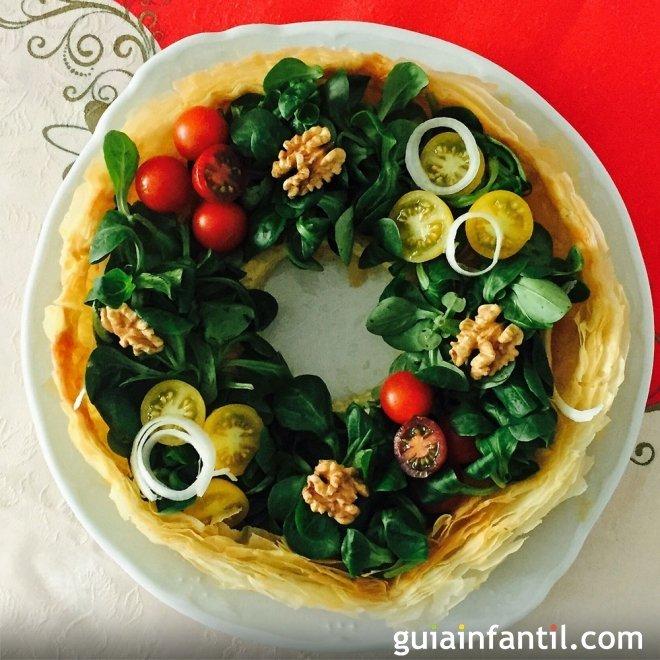Receta de corona de Navidad para la cena de Nochebuena