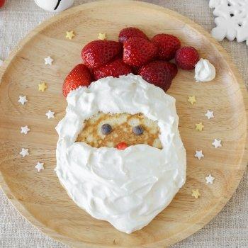 Crepes de Navidad con forma de Papá Noel