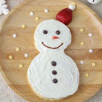 Crepe con forma de muñeco de nieve