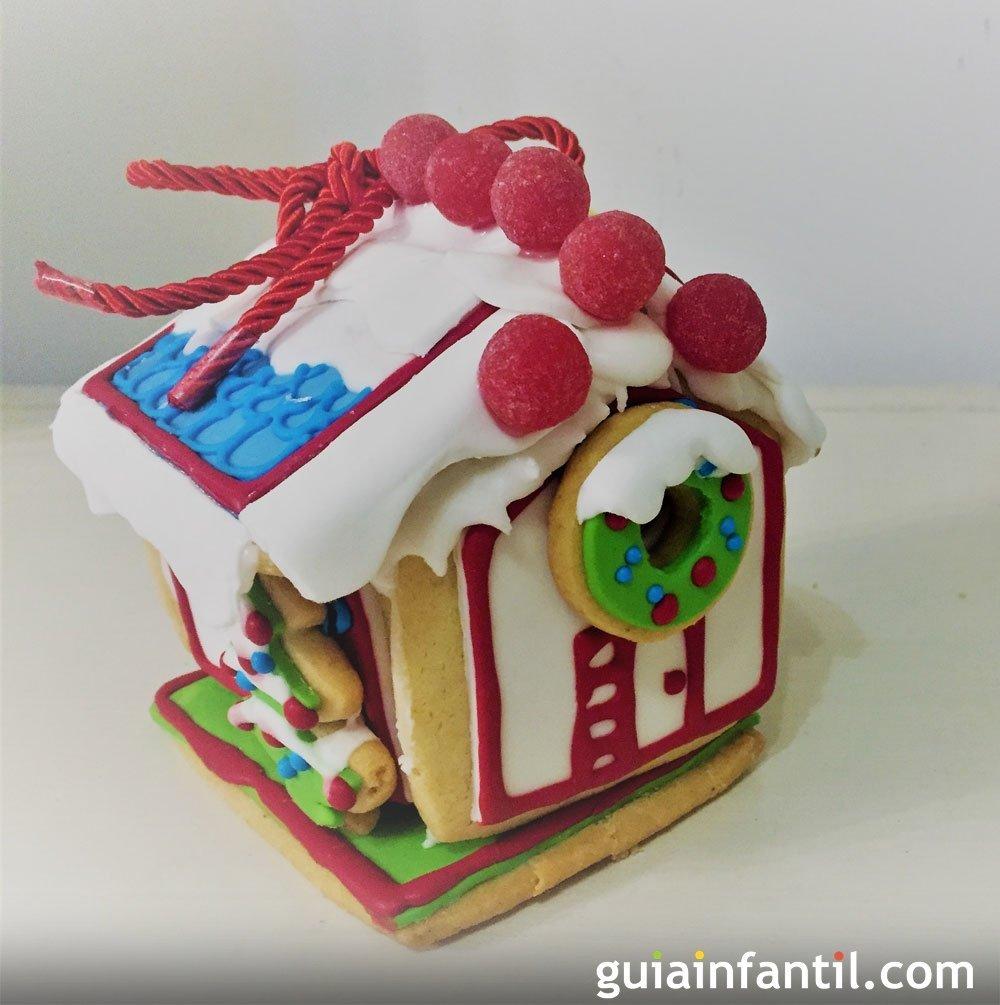 Casita de galletas de jengibre para Navidad paso a paso