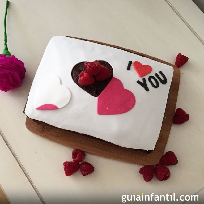 Tarta romántica casera para San Valentín