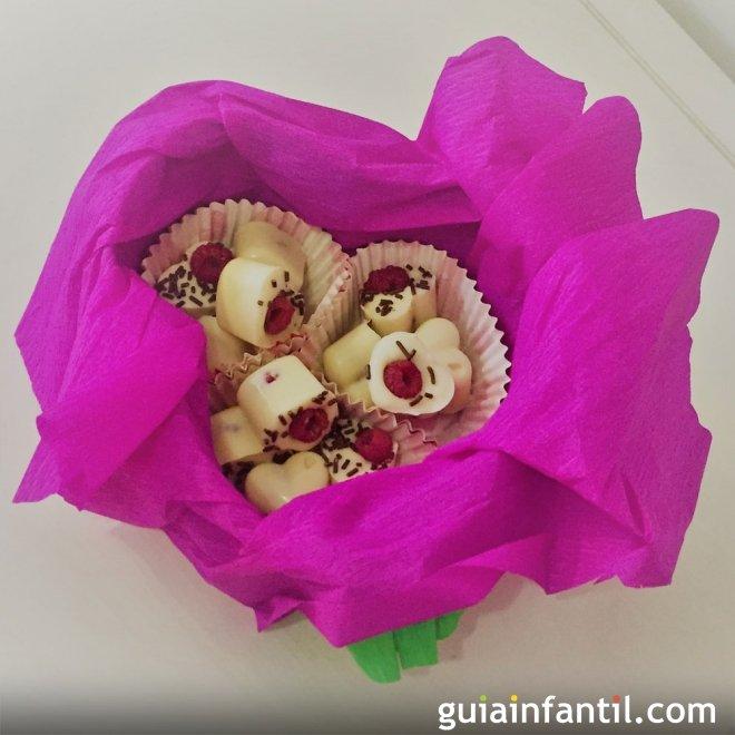 Bombones caseros con fruta para San Valentín
