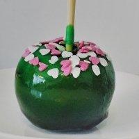 Manzana caramelizada para el Día del Padre