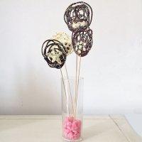 Receta de piruletas de chocolate para celebraciones familiares