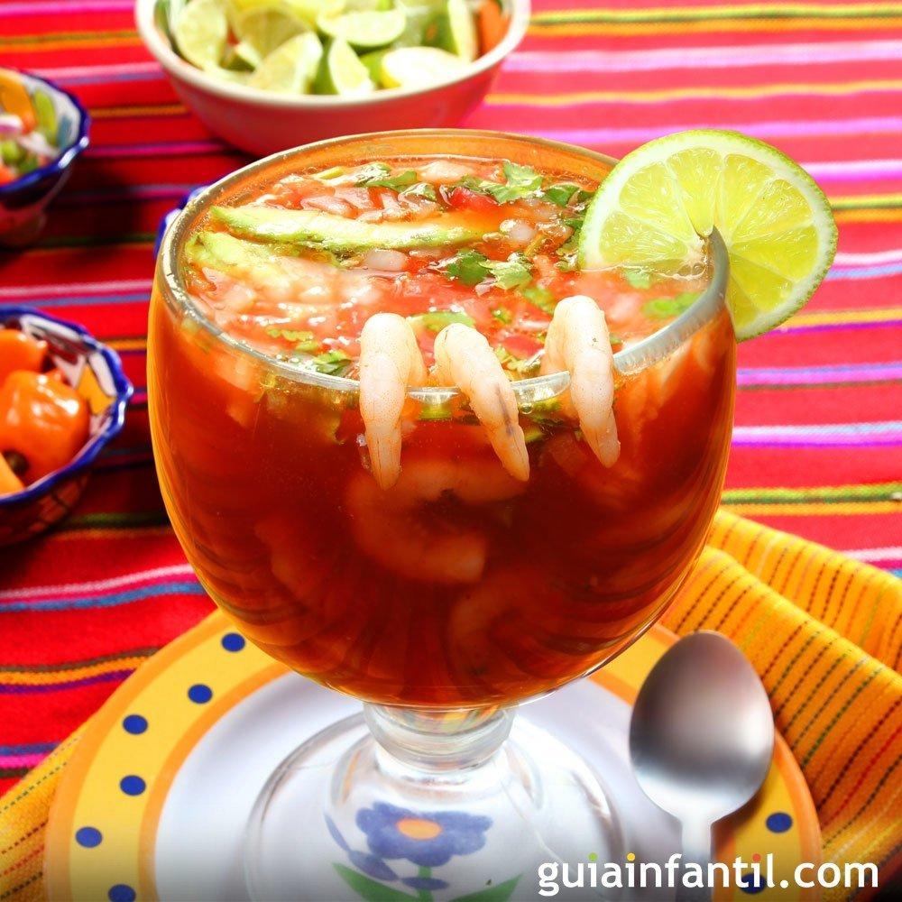 Coctel de camar n receta mexicana para los ni os for Coctel con zumo de tomate