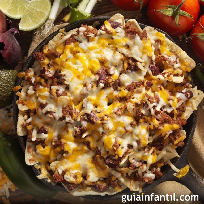 nachos a la bolo esa o totopos con carne receta mexicana
