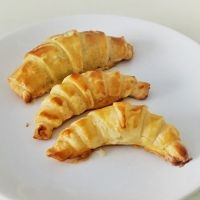 Receta de mini croissants de plátano y chocolate