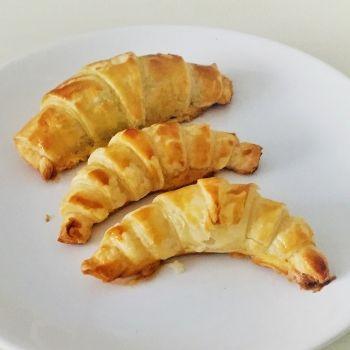 Receta de mini croissants de plátano y chocolate