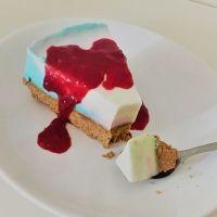 Tarta de queso de fantasía para cumpleaños infantiles... ¡sin horno!
