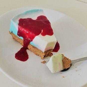 Tarta de queso de fantasía para cumpleaños