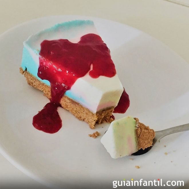 tarta de queso de fantasa para cumpleaos infantiles sin horno