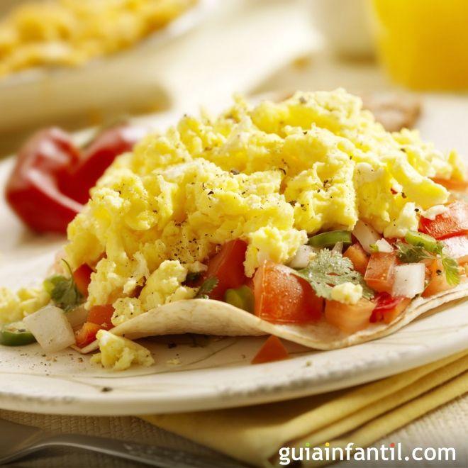 Huevos rancheros. Receta mexicana para niños